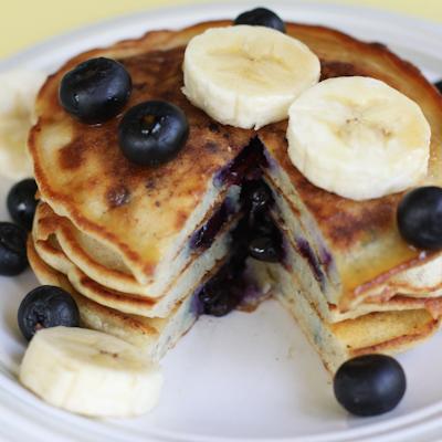 Blueberry Banana Protein Pancake!