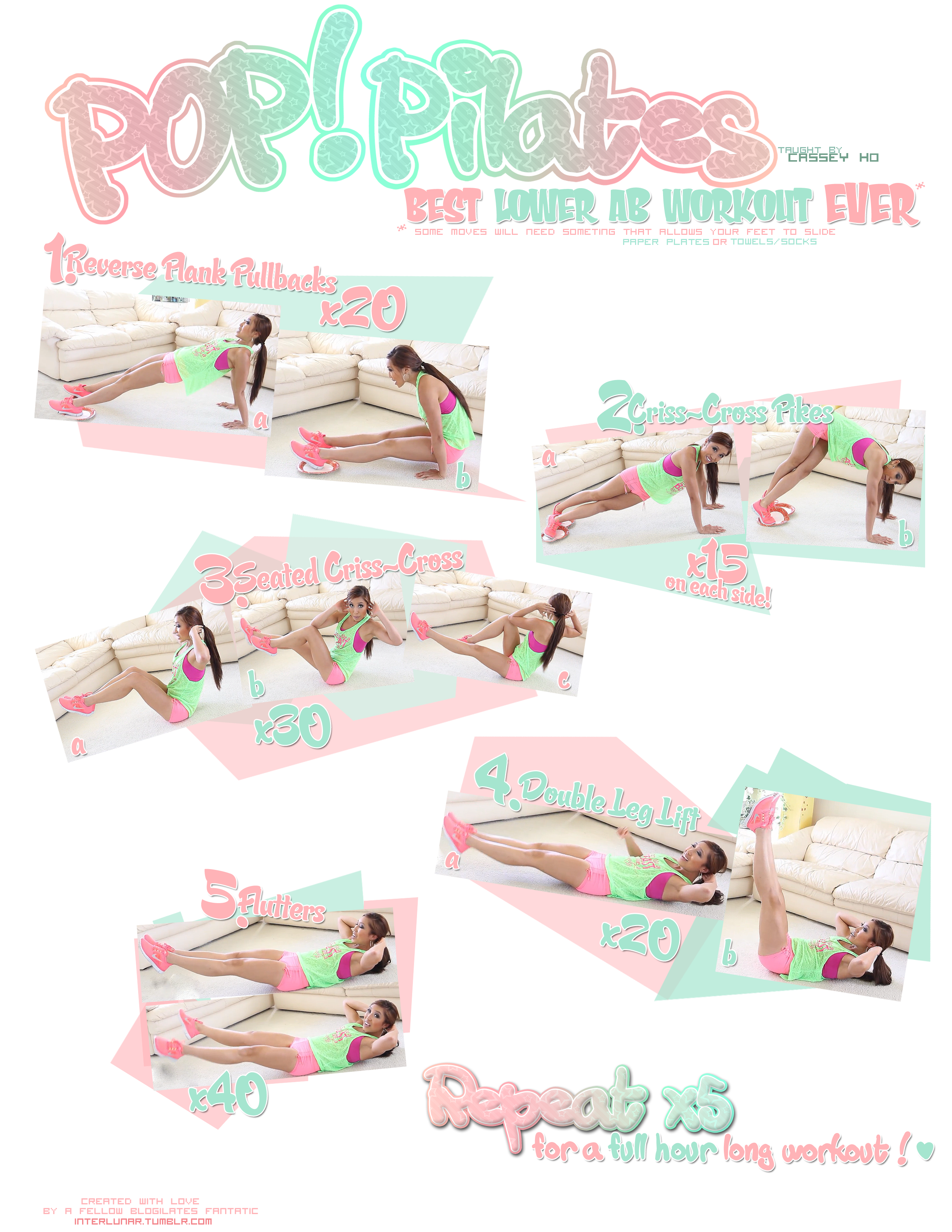 Best Lower Abs Workout Printable Blogilates