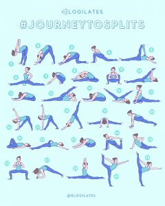 journey to splits  blogilates  blogilates