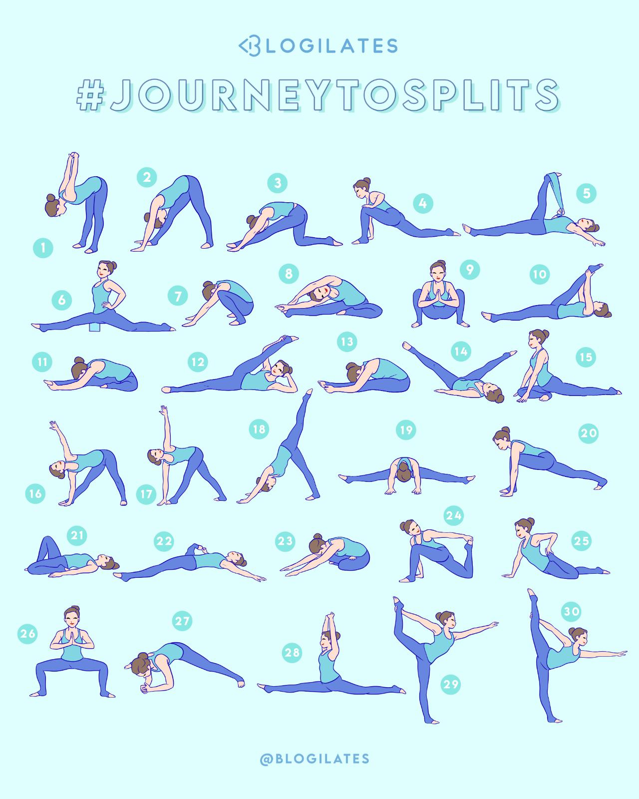 30 Days 30 Stretches To Splits Journeytosplits Blogilates