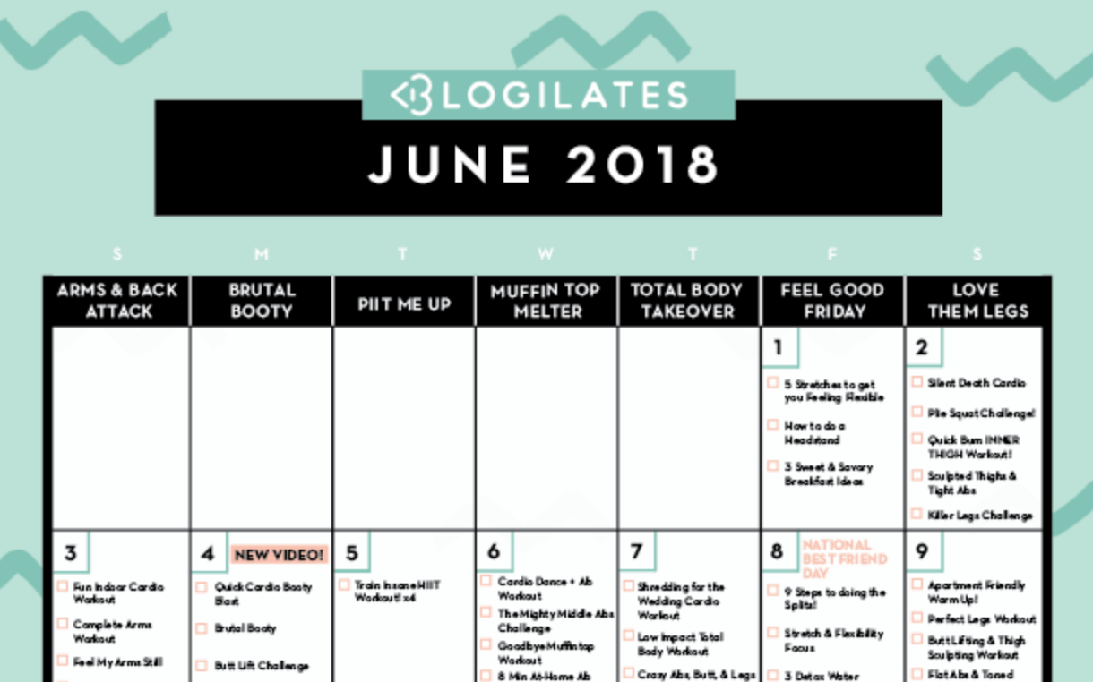 Calendar Archives Blogilates