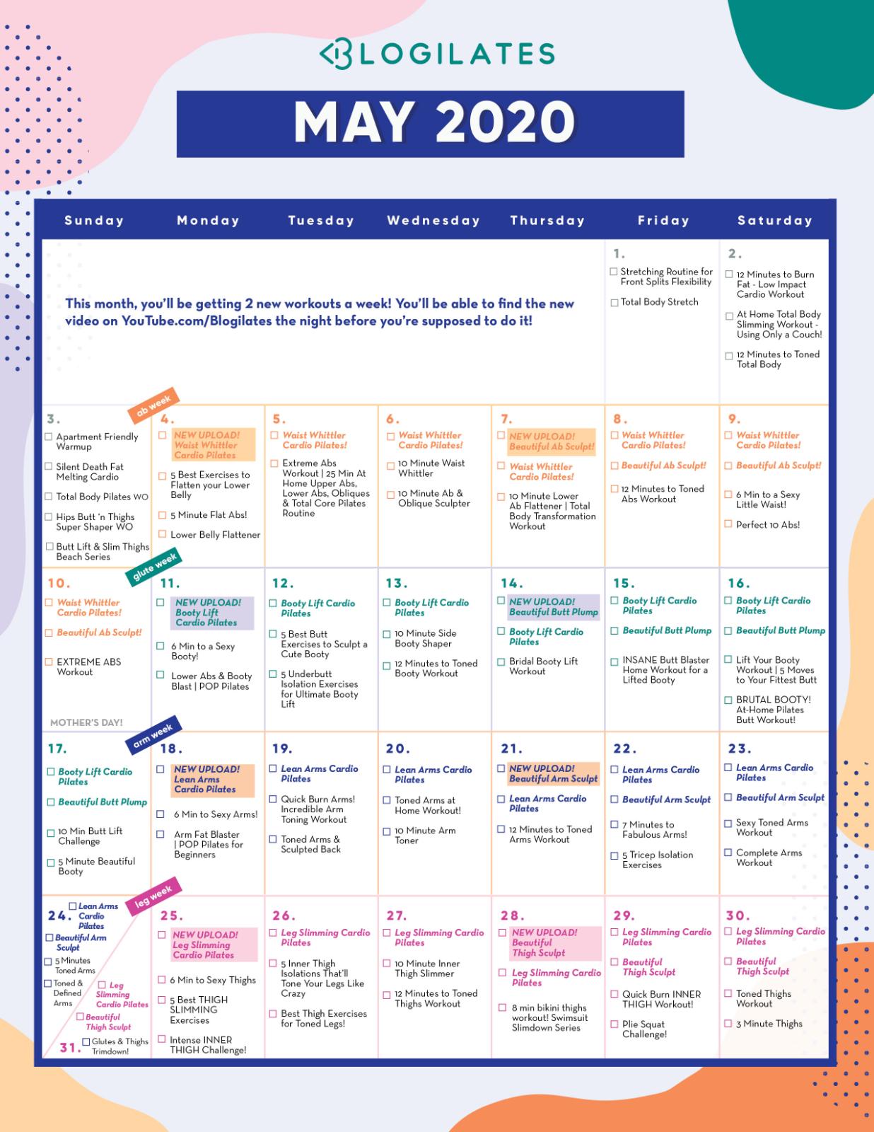 30 de zi thigh slimming calendar challenge